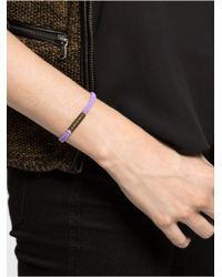 BaubleBar | Purple As Good As Gold Charity Bracelet | Lyst