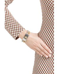 Marc By Marc Jacobs - Metallic Marc By Marc Jacobs Double Vision Turnlock Bracelet Silver Gold - Multicolor - Lyst