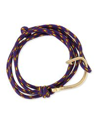 Miansai | Purple Hook Rope Bracelet | Lyst
