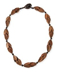Eskandar - Brown Comanda Single Necklace - Lyst