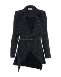 Ba&sh | Black Icare Tweed Wrap Coat | Lyst
