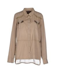 Guess - Natural Shirt - Lyst
