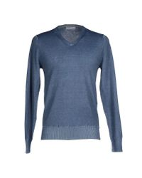 Paolo Pecora - Blue Jumper for Men - Lyst