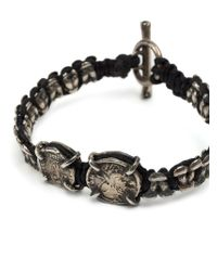 Tobias Wistisen | Black Metal Macrame Bracelet for Men | Lyst
