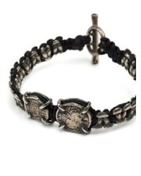 Tobias Wistisen - Black Metal Macrame Bracelet for Men - Lyst