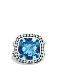 David Yurman - Albion Ring With Hampton Blue Topaz & Diamonds - Lyst