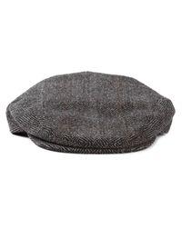 Dolce & Gabbana - Gray Herringbone Flat Cap for Men - Lyst