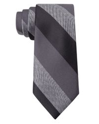 William Rast | Black Silk Stripe Tie for Men | Lyst