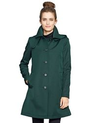 Lauren by Ralph Lauren | Green A-Line Raincoat | Lyst