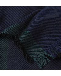 Paul Smith - Blue Herringbone Wool Scarf for Men - Lyst