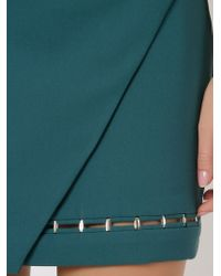 Giuliana Romanno   Green Wrap Mini Skirt   Lyst