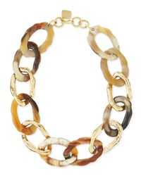 Ashley Pittman - Metallic Kiungo Mixed Horn & Bronze Necklace - Lyst
