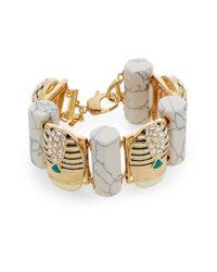 Lele Sadoughi | Metallic Egyptian Deco Howlite & Marble Scarab Bracelet | Lyst