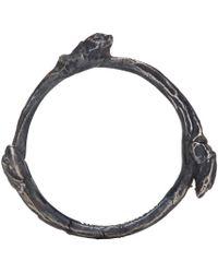 Ann Demeulemeester - Metallic Silver Tarnished Branch Ring for Men - Lyst