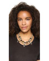 Sam Edelman - Multicolor Chain Stone Necklace - Lyst