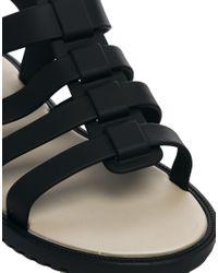 Melissa - Flox Black Flat Sandals - Lyst