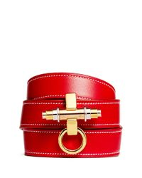Givenchy | Red 'obsedia' Triple Wrap Leather Bracelet | Lyst