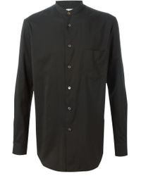 Paul Smith - Black Band Collar Shirt for Men - Lyst