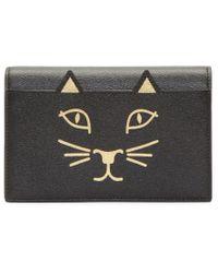 Charlotte Olympia | Black Feline Purse Leather Shoulder Bag | Lyst