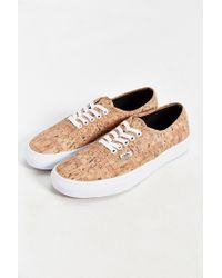 Vans - Brown Authentic Printed Sneaker for Men - Lyst