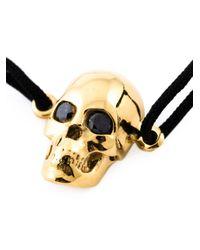 Leivan Kash | Metallic Diamond Eyes Skull Bracelet | Lyst