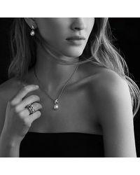 David Yurman - Metallic Three X Crossover Ring with Diamonds - Lyst