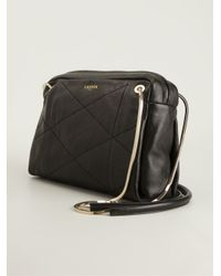 Lanvin - Black Quilted Cross Body Bag - Lyst