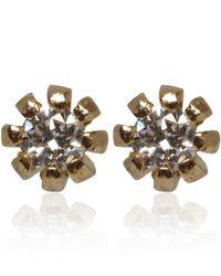 Alex Monroe - Metallic Gold Diamond Flower Bud Stud Earrings - Lyst