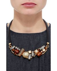 Marni | Yellow Chunky Horn Necklace | Lyst