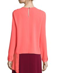 Tanya Taylor - Multicolor Two-tone Long-sleeve Blouse - Lyst