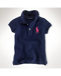 Ralph Lauren | Blue Big Pony Stretch Polo | Lyst