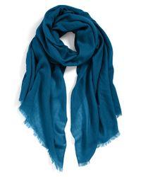 Echo - Green Solid Wool Wrap - Lyst
