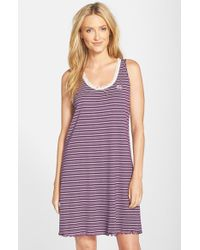 Lauren by Ralph Lauren | Purple Stripe A-line Nightgown | Lyst