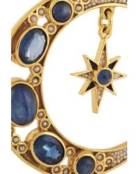 Percossi Papi - Blue Gold-Plated Sapphire, Kyanite And Pearl Earrings - Lyst