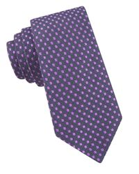 Ted Baker | Purple Dotted Silk Tie for Men | Lyst