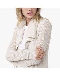 James Perse | White Silk Cardigan | Lyst