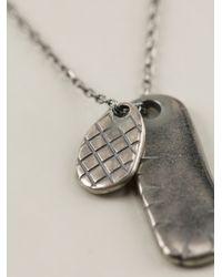 Bottega Veneta - Metallic Intrecciato Embossed Necklace for Men - Lyst