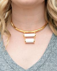 Lizzie Fortunato | Metallic Ancient Ruins Collar Necklace | Lyst