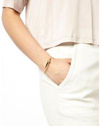 ASOS - Metallic Ball Cuff Bracelet - Lyst