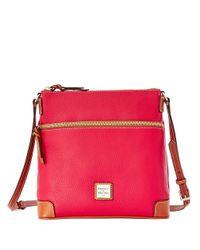 Dooney & Bourke - Red Pebbled Leather Crossbody Bag - Lyst