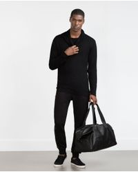 Zara | Black Funnel Neck Oversize Sweater for Men | Lyst