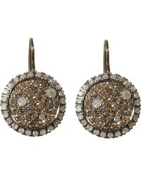 Roberto Marroni - Brown & Ice Diamond Drop Earrings - Lyst