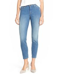 NYDJ | Blue 'nichelle' Stretch Slim Ankle Jeans | Lyst
