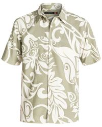 Quiksilver - Brown Waterman Short-sleeve West Bay Shirt for Men - Lyst