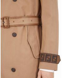 Fendi - Brown Trench Coat for Men - Lyst