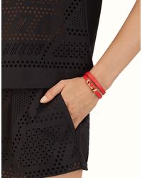 Fendi - Red Crystal Wonders Bracelet - Lyst
