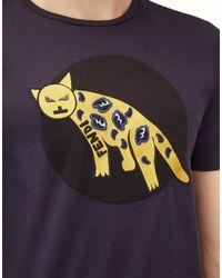 Fendi - Blue T-shirt T-shirt for Men - Lyst