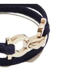Ferragamo - Blue Gancini Canvas Rope Bracelet - Lyst
