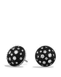 David Yurman - Black Midnight Melange Earrings With Diamonds - Lyst