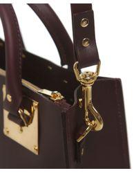 Sophie Hulme Purple Albion Large Square Tote Bag